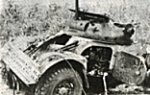 Destroyed South African armored car