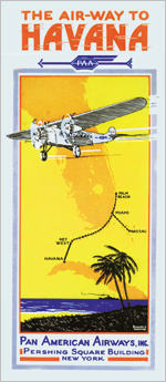 Poster of Pan American flights to Cuba