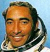 Tamayo in the cosmonaut costum